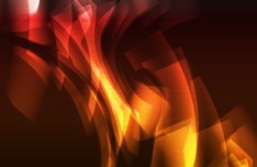 Bright Orange Abstract Curves Background 02