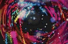 Creative Circular Mosaic Background Vector 02