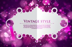 Vintage Badge with Bokeh Halos Background Vector