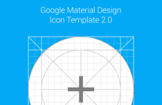 Material Design Icon Template Vector