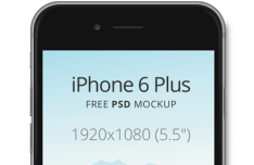 iPhone 6 Plus Dark Mockup PSD
