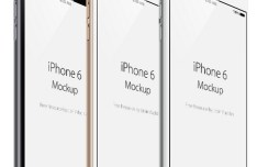iPhone 6 Side View PSD Mockup