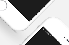 iPhone 6 White PSD Mockup