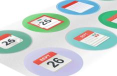 Calendar Icons Set Vector PSD
