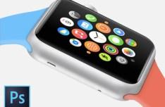 Apple Watch Sport Edition Template PSD