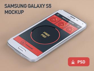 Samsung Galaxy S5 Mockup PSD