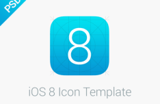 iOS 8 Icon Grid Template PSD