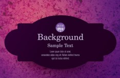 Stylish Violet Label Vector