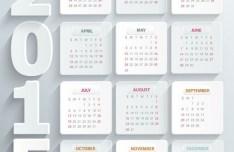 Flat White 2015 Calendar Vector