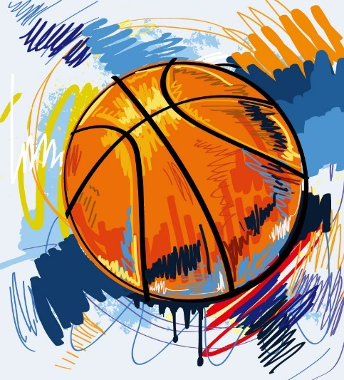 Basketball Street Graffiti Vector