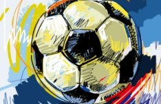 Football Street Graffiti Vector
