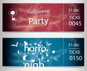 Halloween Party Tickets Vecotr