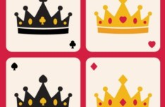 Flat Crown Poker Vector