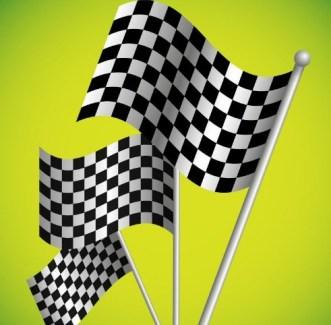 F1 Racing Flags Vector