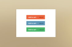 Flat Add To Cart Buttons PSD