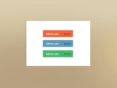 Flat Add To Cart Buttons PSD