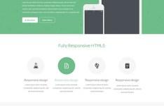 estash App Landing Page Template PSD