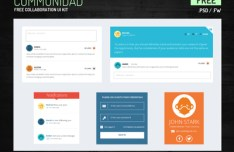 COMMUNIDAD Communities and Collaboration UI Kit PSD