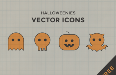 Cute Halloween Ghost Vector Icons SVG