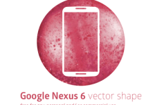 Google Nexus 6 Vector Shape