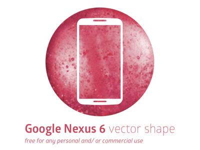 Google Nexus 6 Vector Shape