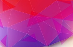 Modern Gradient Polygon Background Vector