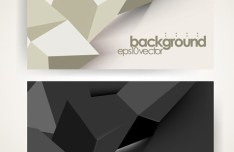 Abstract Dark & Light Polygon Backgrounds Vector
