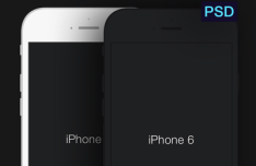 iPhone 6 Minimal Templates PSD
