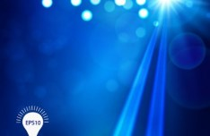 Blue Sunshine Background Vector