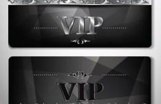 Dark Polygon VIP Card Template Vector