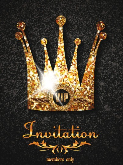 Royal Crown Invitation Card Template Vector
