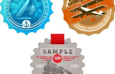 Vintage Transport Badges Vector