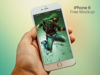 iPhone 6 Hand View Mockup PSD