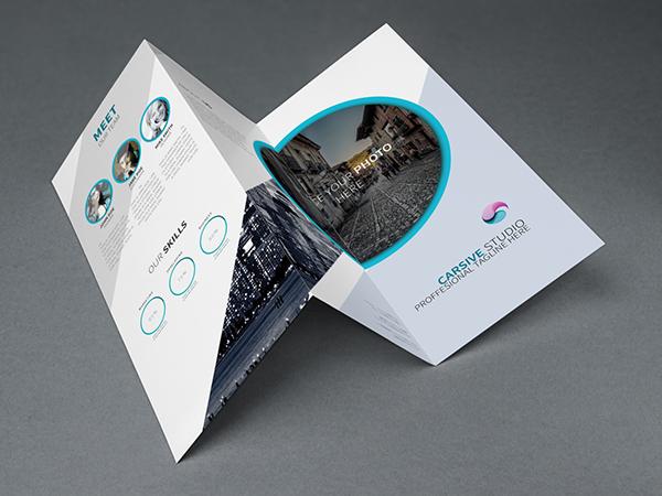 Free Creative Trifold Brochure Template PSD TitanUI - Brochure template psd