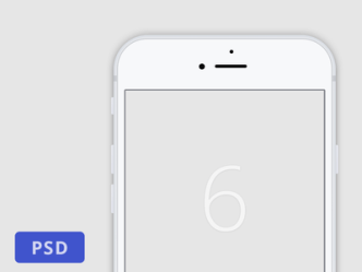 Minimalist White iPhone 6 Template PSD
