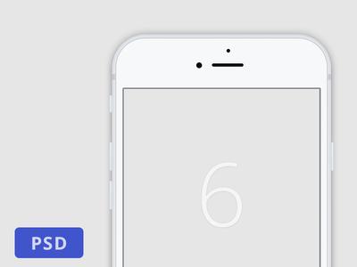 Minimalist White iPhone 6 Template PSD