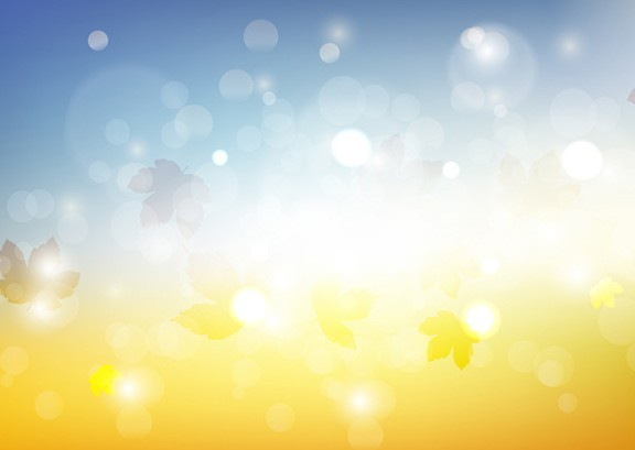 Sunny Fall Background Vector