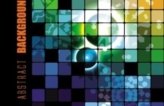 Colorful Abstract Blocks Background Vector 02