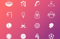 16 Sport Icons PSD