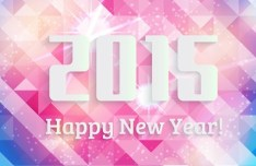 2015 Happy New Year Geometry Background Vector
