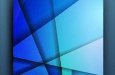 Blue Polygon Brochure Design Vector