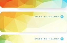 Colorful Polygon Banner Template Set 02