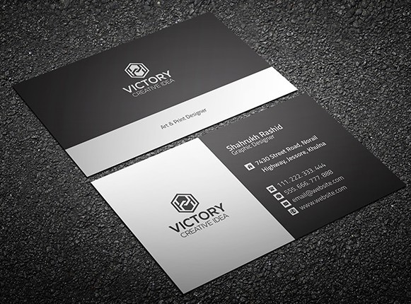 Graiht & Corporate Business Card Template PSD