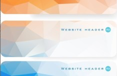 Colorful Polygon Banner Template Set 04