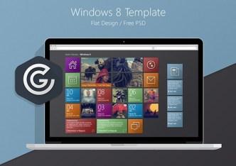 Windows 8 Metro Style Flat Template PSD