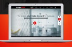 Visual Box Multimedia Website Template PSD
