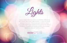 Fantastic Lights Background Vector