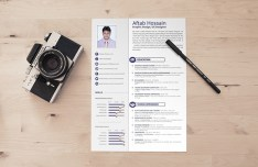 2 page Resume Template PSD