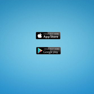 App Store & Google Play Badges PSD