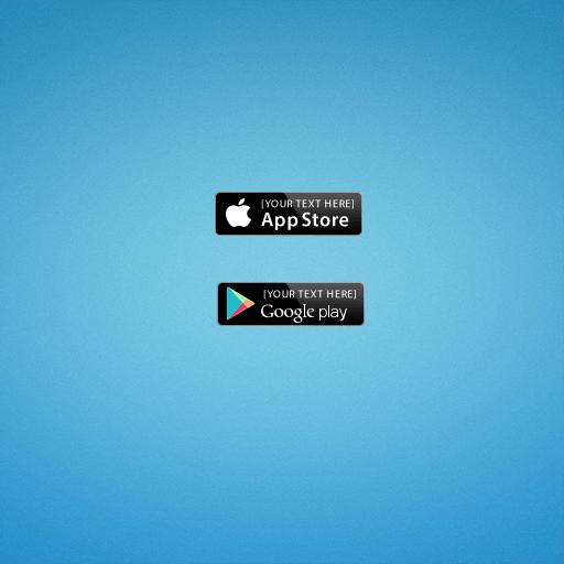 App Store & Google Play Badges PSD